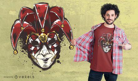 Diseño de camiseta con máscara veneciana