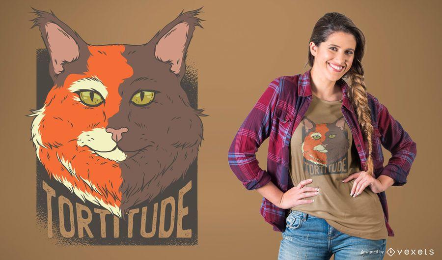 Tortoise Cat T-Shirt Design