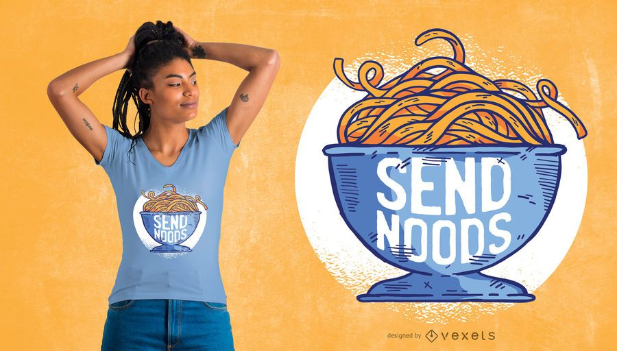Send Noods T-Shirt Design