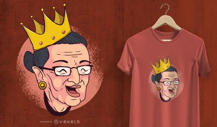 Crowned Ruth Bader T-Shirt Design