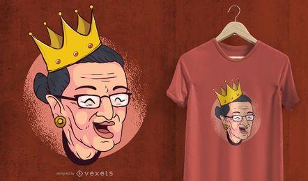 Ruth Bader T-Shirt Design gekrönt