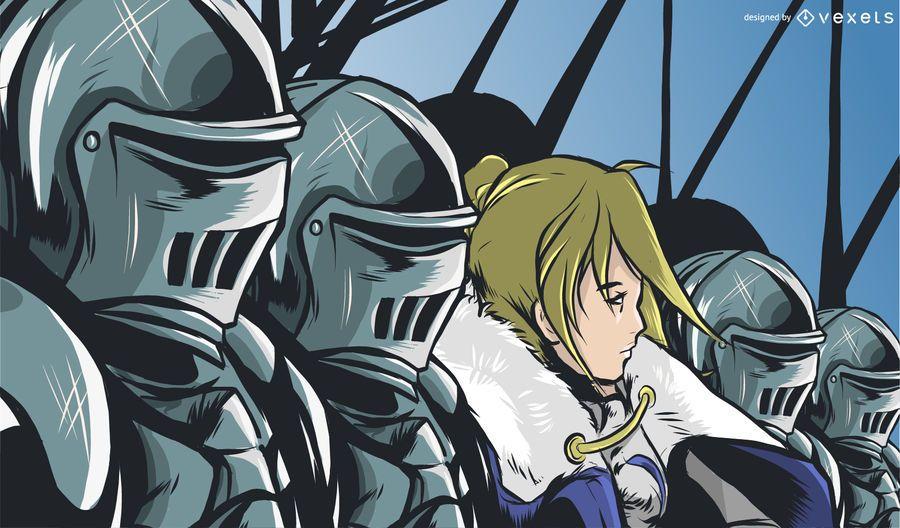 Prinz bereit für die Schlacht Illustration
