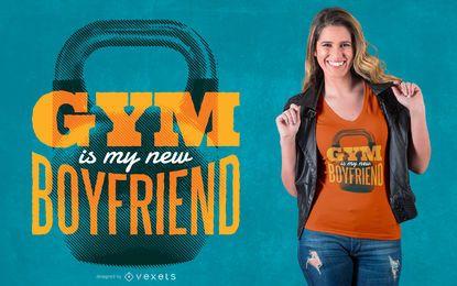 Diseño de camiseta Gym Boyfriend