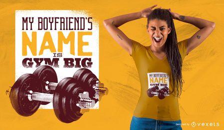 Design grande do t-shirt do namorado do Gym