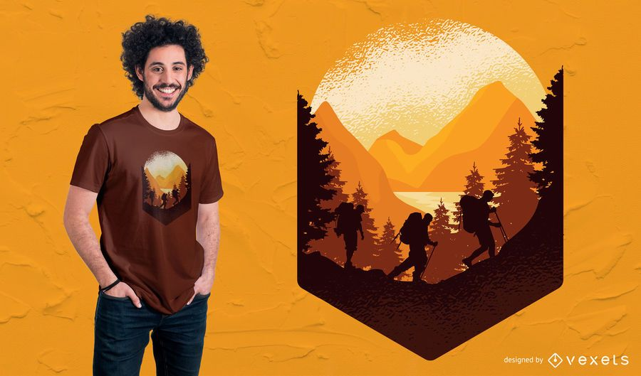 Hiking Outdoors T-Shirt Design