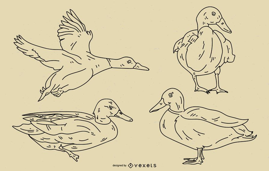 Duck Stroke Style Set