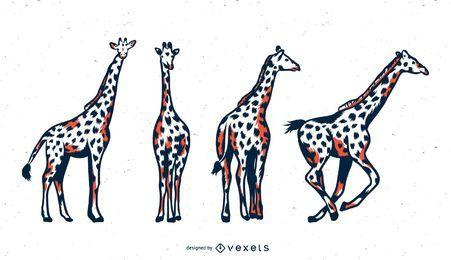 Conjunto de tons de girafa