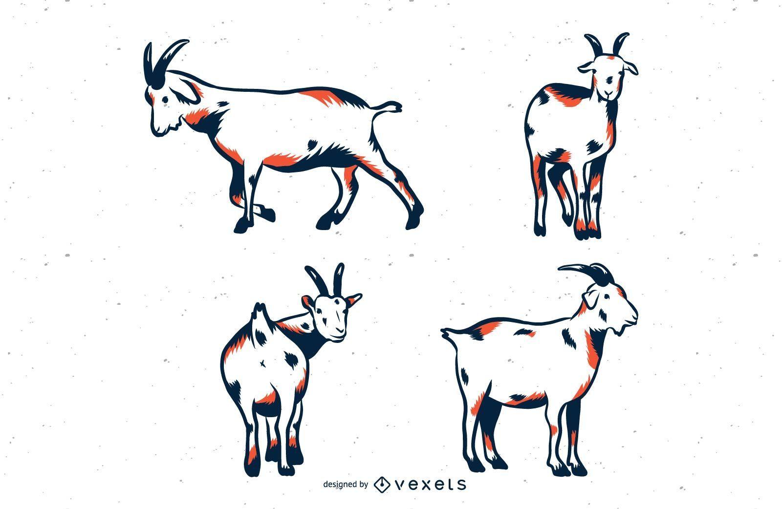Goat Duo Tone Set