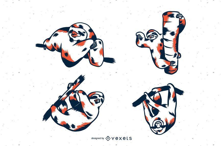 Sloth Duo Tone Set