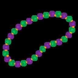 Accesorio collar abalorios plano