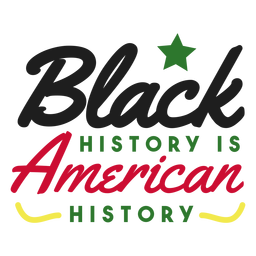 Black history is american history star sticker