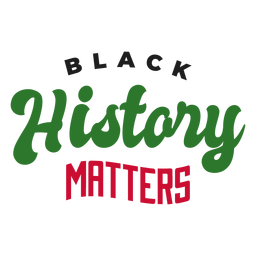 Black history matters sticker