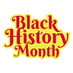 Black history month sticker