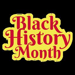 Pegatina del mes de la historia negra