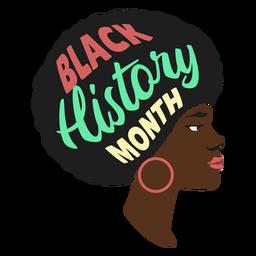 Pendiente mujer mes negro historia plana