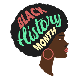Schwarzer Geschichtsmonats-Frauenohrring flach
