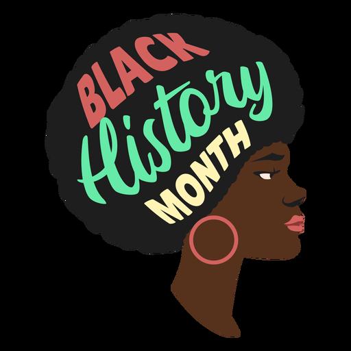 Black history month woman earring flat