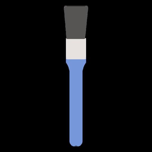 Cepillo de cerdas herramienta de pintura plana. Transparent PNG