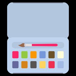 Pincel cor da caixa de cor da caixa plana