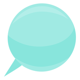 Burbuja discurso burbuja bola esfera plana