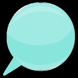Esfera de bolha bolha discurso bolha plana