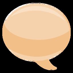 Bocadillo burbuja burbuja ovalada plana