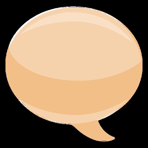 Bolha bolha de discurso oval plana Transparent PNG