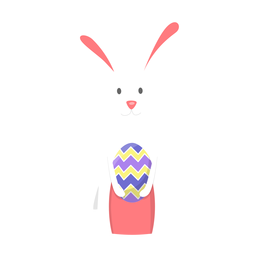 Bunny easter egg flat
