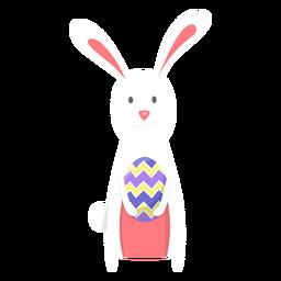 Huevo de pascua de conejito plano