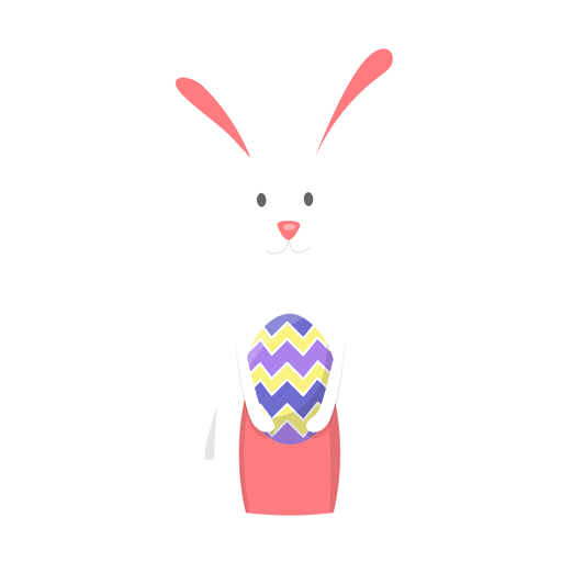 Bunny easter egg flat Transparent PNG
