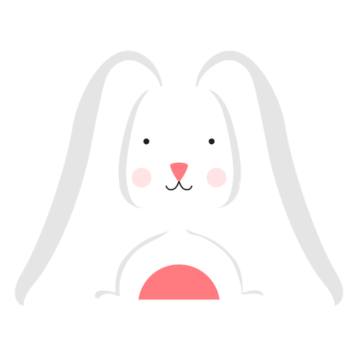 Bunny easter flat
