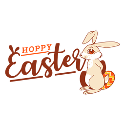Coelhinho da Páscoa coelho ovo saudação crachá