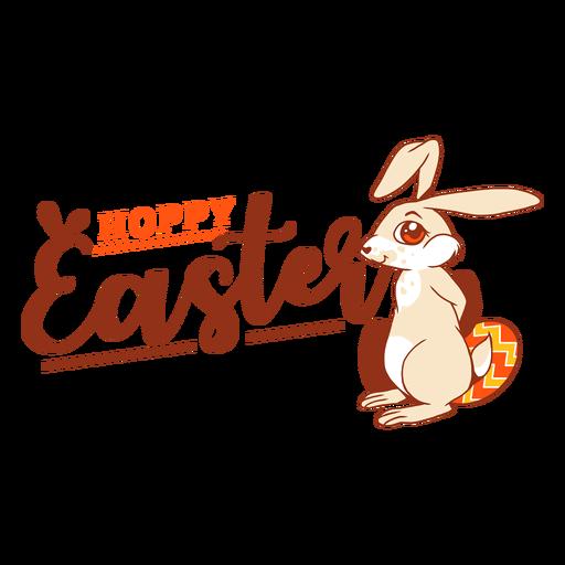 Insignia del saludo del huevo del conejo de pascua del conejito Transparent PNG