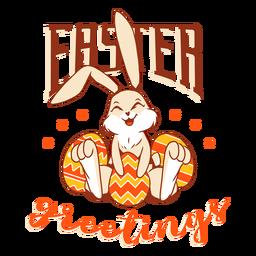 Coelhinho da Páscoa coelho ovo felicidade crachá