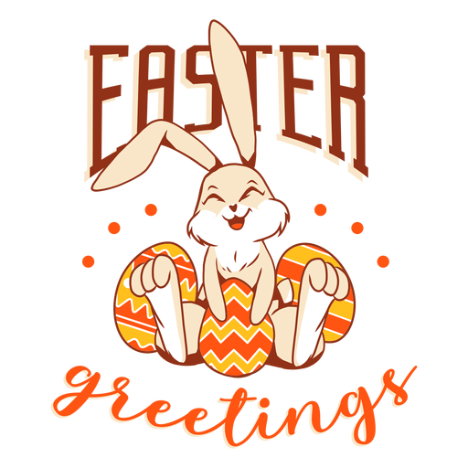 Bunny easter rabbit egg happiness badge Transparent PNG