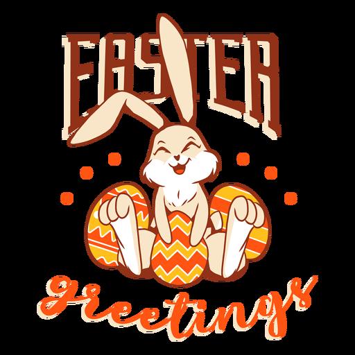Insignia de la felicidad del huevo del conejo de Pascua del conejito