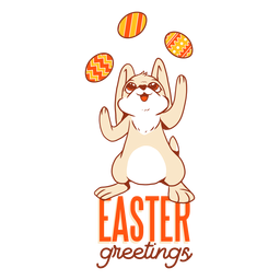 Bunny easter rabbit egg juggling badge