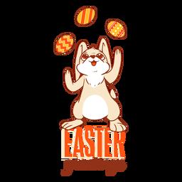 Jonglierendes Abzeichen des Häschen-Ostern-Kaninchens