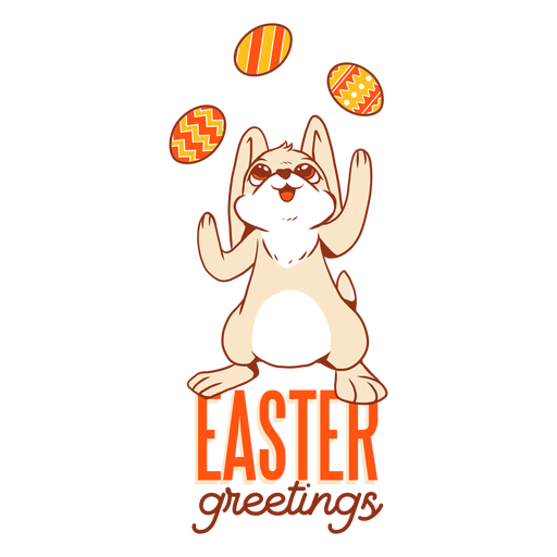 Bunny easter rabbit egg juggling badge Transparent PNG