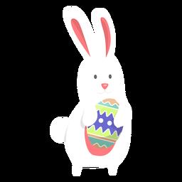 Bunny egg easter flat