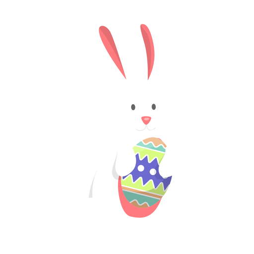 Bunny egg easter flat Transparent PNG