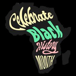Celebrate black history month madagaskar sticker