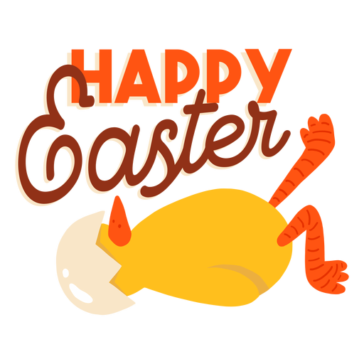 Chicken beak shell easter greeting badge Transparent PNG