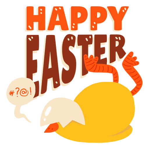 Chicken bubble beak shell  Easter greeting badge Transparent PNG