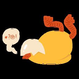 Pollo burbuja pico cáscara plana