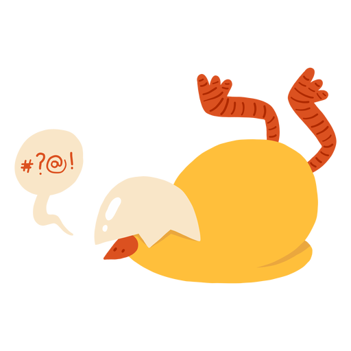 Chicken bubble beak shell flat Transparent PNG