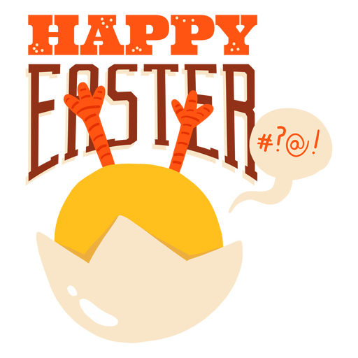 Chicken bubble shell easter greeting badge Transparent PNG