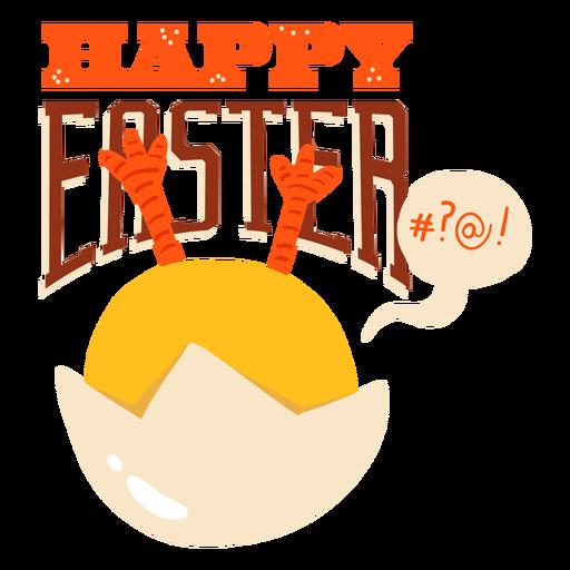 Insignia del saludo de Pascua de la cáscara de la burbuja del pollo Transparent PNG