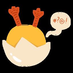 Concha de pollo plana