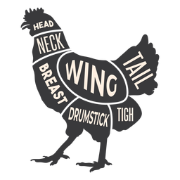 Silhueta de carne de frango